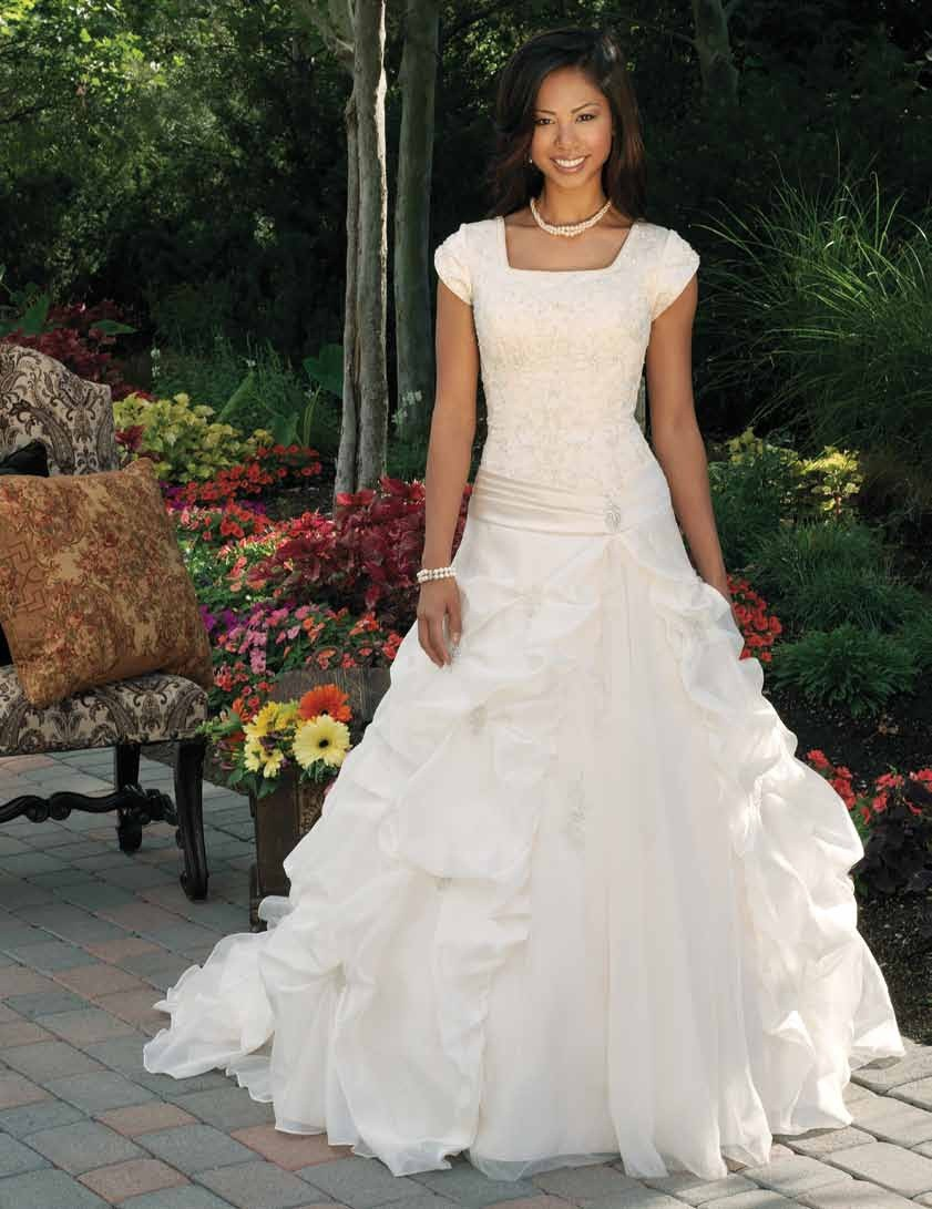 Mormon Weddings The Horse Of A Different Color Mormon Basics - Lds Wedding Dress